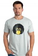 náhled - Retro opičák šedé pánské tričko