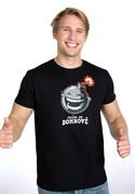 náhled - Mám se bombově černé pánské tričko