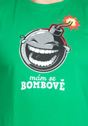náhled - Mám se bombově zelené pánské tričko