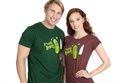 náhled - Fucking Robots zelené pánské tričko