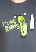 náhled - Fucking Robots šedé pánské tričko