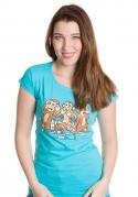náhled - Trojnásobná opice dámské tričko