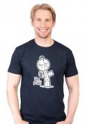 náhled - Dáme panáka modré pánské tričko