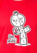 náhled - Dáme panáka červené pánské tričko