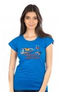 náhled - Zvrhlá modré dámské tričko