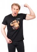náhled - Korba černé pánské tričko