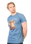 náhled - Korba modré pánské tričko