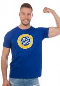 náhled - Drž úhel modré pánské tričko