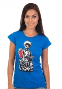 náhled - Odstup vegane modré dámské tričko