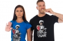náhled - Odstup vegane černé pánské tričko