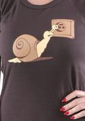 náhled - Šmírování hnědé dámské tričko