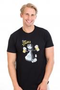 náhled - Na tahu černé pánské tričko