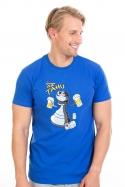 náhled - Na tahu modré pánské tričko