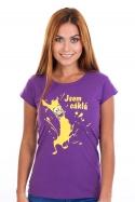 náhled - Cáklá fialové dámské tričko