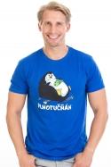 náhled - Plnotučňák tmavě modré pánské tričko