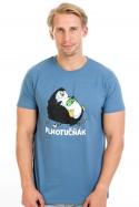 náhled - Plnotučňák modré pánské tričko
