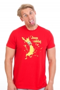 náhled - Cáklej červené pánské tričko