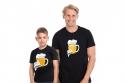 náhled - Malý pívo černé dětské tričko