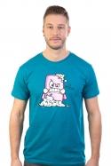 náhled - Zmydlím tě modré pánské tričko