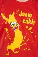 náhled - Cáklá červené dětské tričko