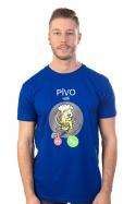 náhled - Pívo volá modré pánské tričko