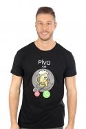 náhled - Pívo volá černé pánské tričko