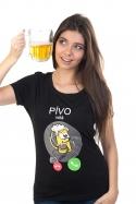 náhled - Pívo volá dámské BIO tričko