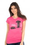 náhled - Vytočenej růžové dámské tričko
