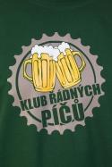 náhled - Klub řádných píčů zelené pánské tričko