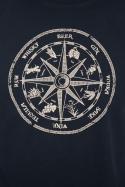 náhled - Alkoholický kompas modré pánské tričko
