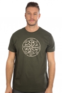 náhled - Alkoholický kompas khaki pánské tričko