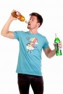náhled - Piju jak duha modré pánské tričko