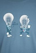 náhled - Prdlá modré pánské tričko