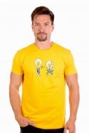 náhled - Prdlá žluté pánské tričko