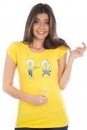 náhled - Prdlá žluté dámské tričko