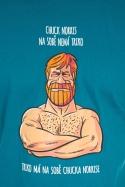náhled - Chuck Norris modré pánské tričko