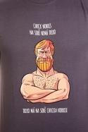 náhled - Chuck Norris šedé pánské tričko