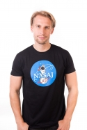 náhled - Nasaj černé pánské tričko