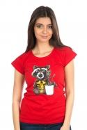 náhled - Strážci galaxie červené dámské BIO tričko