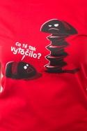 náhled - Vytočenej červené dámské BIO tričko