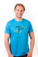 náhled - Melouny modré pánské tričko