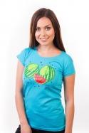 náhled - Melouny modré dámské tričko