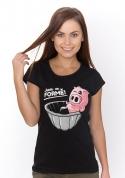 náhled - Ve formě černé dámské BIO tričko