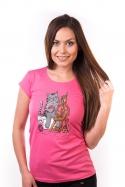 náhled - Kočka přede dámské tričko