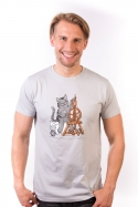 náhled - Kočka přede pánské tričko