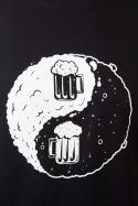 náhled - Jin Jang pivo černé pánské tričko