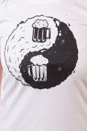 náhled - Jin Jang pivo bílé dámské tričko