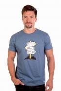 náhled - Rozcestník modré pánské tričko