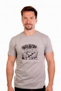 náhled - Alfasumec šedé pánské tričko