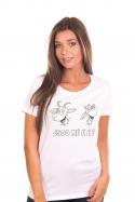 náhled - Kozy bílé dámské BIO tričko